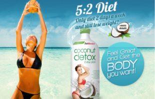 Coconut detox 2 day plan review giảm cân an toàn không gây tác dụng phụ