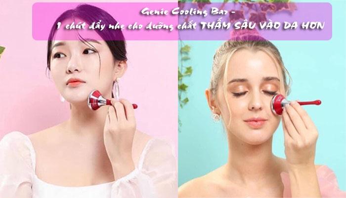 Review máy đẩy tinh chất genie cooling bar Hàn Quốc 1