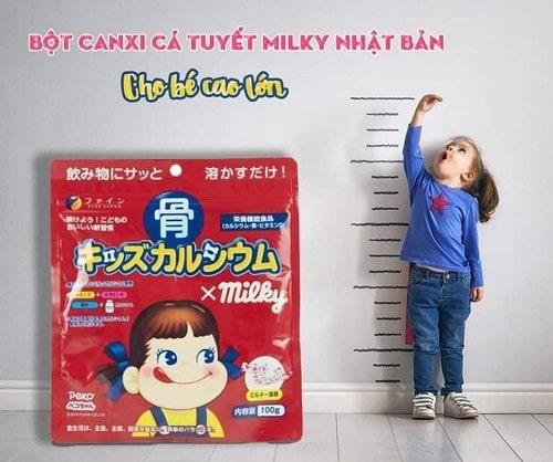 Review bột canxi cá tuyết Milky 140g của Nhật Bản-5