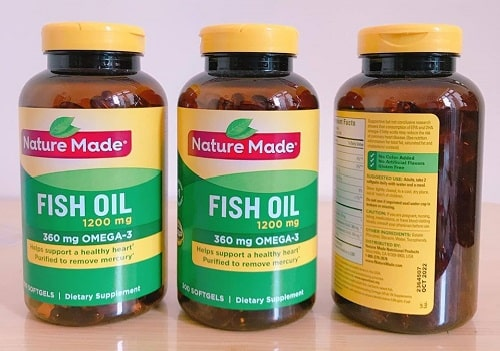 Review viên uống Nature Made Fish Oil 1200mg Omega-3 360mg-3