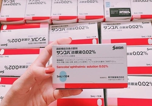 Review thuốc nhỏ mắt Sancoba của Nhật-3