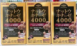 Cách uống thuốc chống đột quỵ Nhật Bản - Orihiro Nattokinase 4000FU-1