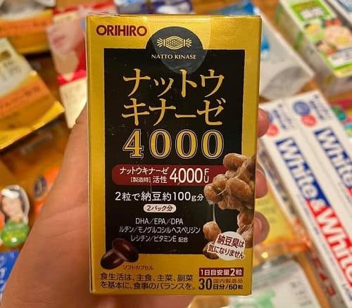 Cách uống thuốc chống đột quỵ Nhật Bản - Orihiro Nattokinase 4000FU-2