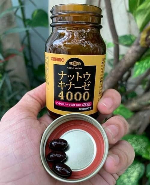 Cách uống thuốc chống đột quỵ Nhật Bản - Orihiro Nattokinase 4000FU-3