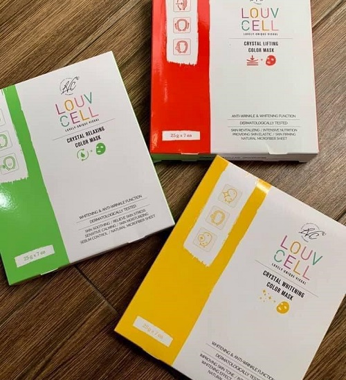 Mặt nạ chỉ tơ Louv Cell Crystal Color Mask review-3