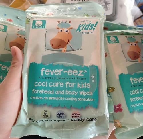 Review khăn lau hạ sốt Fever Eez Cool Care For Kids-2
