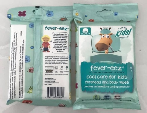Review khăn lau hạ sốt Fever Eez Cool Care For Kids-3