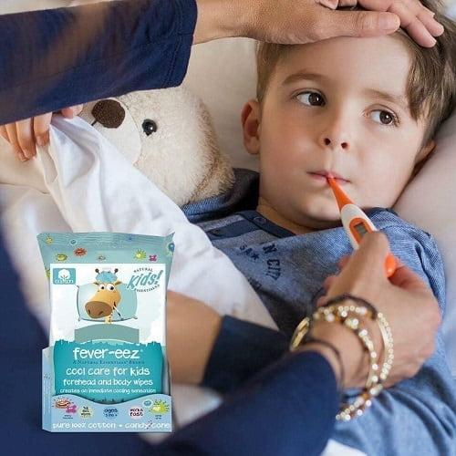 Review khăn lau hạ sốt Fever Eez Cool Care For Kids-5