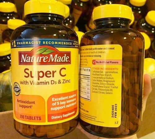 Viên uống Nature Made Super C With D3 Zinc review-3