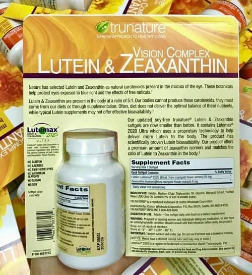 Thuốc Trunature Lutein và Zeaxanthin có tác dụng gì?-2