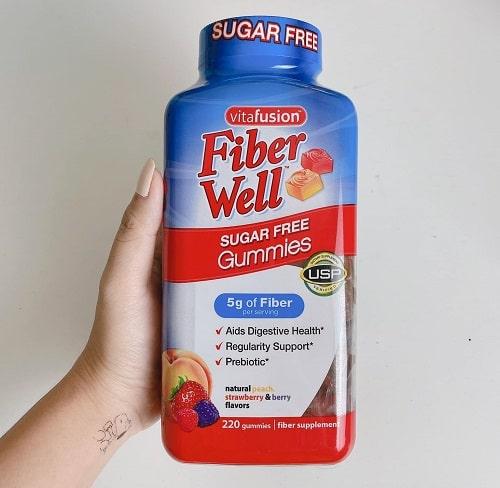 Kẹo dẻo Vitafusion Fiber Well Sugar Free Gummies review-2
