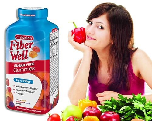 Kẹo dẻo Vitafusion Fiber Well Sugar Free Gummies review-5